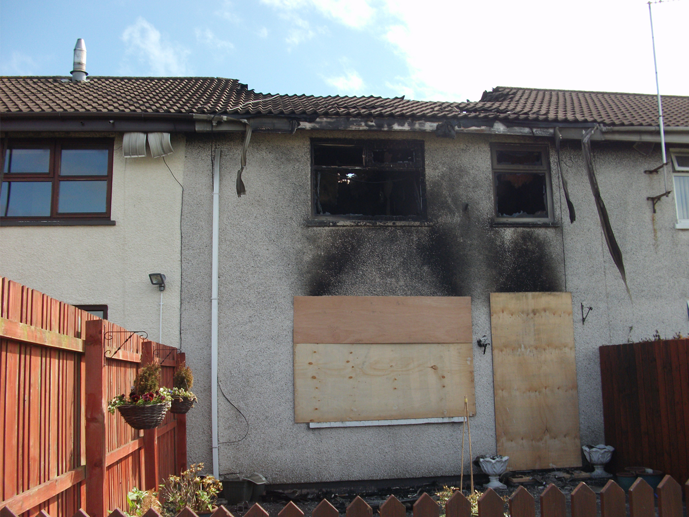 House fire before image - with fire damage