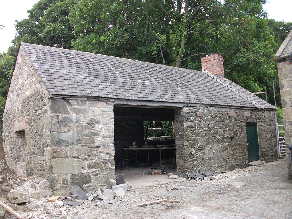 After - buildings rebuilt after claim