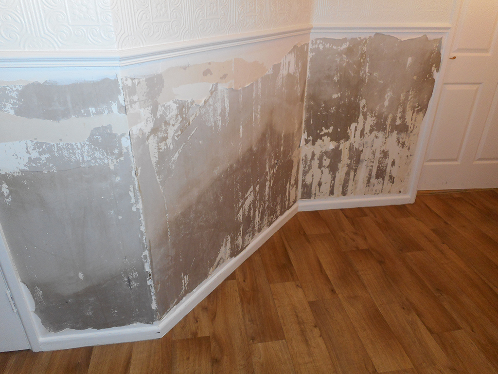 Escape of water before image - with water damage